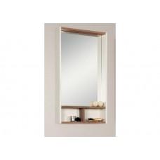 Шкаф-зеркало Акватон Йорк 55 белый/дуб сонома