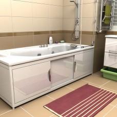 Экран под ванну МАЛИБУ в рамке из алюминиевого профиля с дверцами из МДФ 150 см