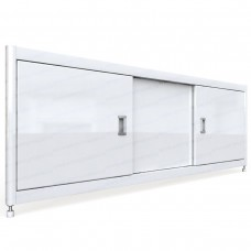Экран под ванну МОНРО в рамке из алюминиевого профиля с дверцами из МДФ 150 см