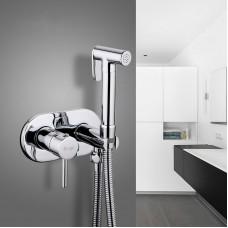 Гигиенический душ со смесителем хром FRAP F7505