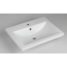 Раковина для ванной COMO 60, 1 отверстие, встраиваемая, белая, P-UM-COM60/1, Cersanit