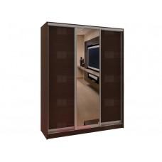 Шкаф-купе 3-х дверный комбинированный с зеркалом Версаль 380