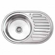 Мойка кухонная Ледеме серии глянцевая ---77*50 толщина 0,8 мм L