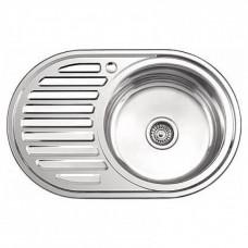 Мойка кухонная Ледеме серии глянцевая ---77*50 толщина 0,8 мм R