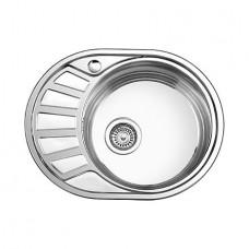 Мойка кухонная Ледеме серии глянцевая ---57*45 толщина 0,8 мм R