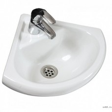 """Раковина для ванной (Santeri) """"Радиан"""" белый с отверстием"""