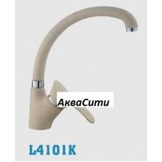Смеситель для кухни LEDEME 4101К д/к d.40 бок. ручка (бежевый матовый)
