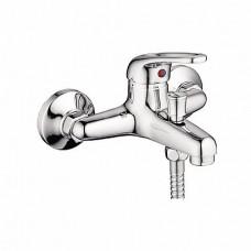 Смеситель с душем LEDEME 3039-В д/в d.35 литой корпус, кор. нос