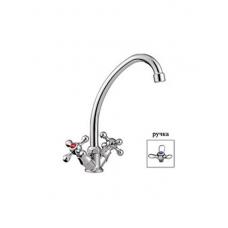 Смеситель для кухни LEDEME 4012 д/к кер. букса