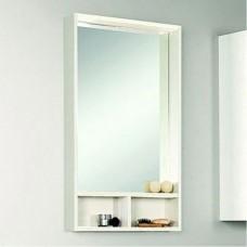 Шкаф зеркальный Акватон Йорк 50 белый/выбеленное дерево