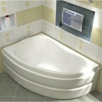 Акриловая ванна Bas Алегра 150x90 L в комплекте каркас
