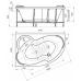 Ванна акриловая Радомир Ирма 169x110 левая (ТМ Vannesa)