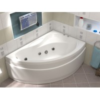 Акриловая ванна Bas Вектра 150x90 R в комплекте каркас