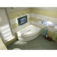 Акриловая ванна Bas Алегра 150x90 R в комплекте каркас