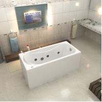 Акриловая ванна Bas Верона 150x70 в комплекте каркас