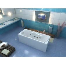 Акриловая ванна Bas Нептун 170x70 в комплекте каркас, слив перелив