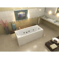 Акриловая ванна Bas Атланта 170x70 в комплекте каркас