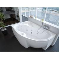 Акриловая ванна Акватек Вега 170x105 L левосторонняя каркас, слив перелив