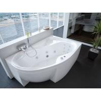 Акриловая ванна Акватек Вега 170x105 R правосторонняя каркас, слив перелив