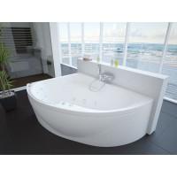 Акриловая ванна Акватек Альтаир 160x120 L левосторонняя каркас, слив перелив