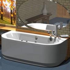 Акриловая ванна Акватек Морфей 190x90 каркас, слив перелив