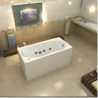 Акриловая ванна Bas Лима 130x70 в комплекте каркас