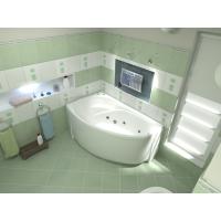 Акриловая ванна Bas Фэнтази 150x88 L в комплекте каркас