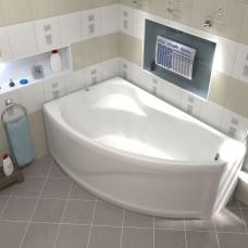 Акриловая ванна Bas Николь 170x104 L в комплекте каркас