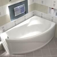 Акриловая ванна Bas Николь 170x104 R в комплекте каркас