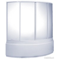 Шторка на ванну Bas Сагра 4 glass 160x145