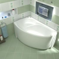 Акриловая ванна Bas Флорида 160x88 L в комплекте каркас