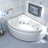 Акриловая ванна Bas Лагуна 170x110 L в комплекте каркас