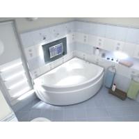Акриловая ванна Bas Лагуна 170x110 R в комплекте каркас
