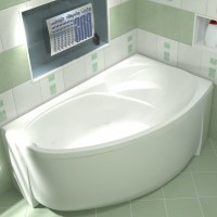 Акриловая ванна Bas Фэнтази 150x88 R в комплекте каркас