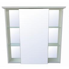 Зеркало - шкаф Модерн 80 с полками