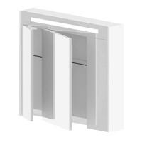 Зеркальный шкаф Астра Форм Венеция 80 см с подсветкой (цена за белый цвет)