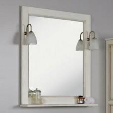 """Зеркало """"Жерона 105""""  белое серебро"""
