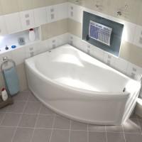 Акриловая ванна Bas Николь 170x104 L левосторонняя